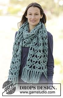 Sjaal met waaierpatroon en franjes
