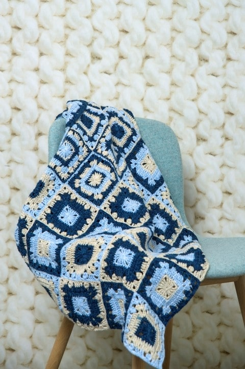 gratis haakpatroon granny squares deken