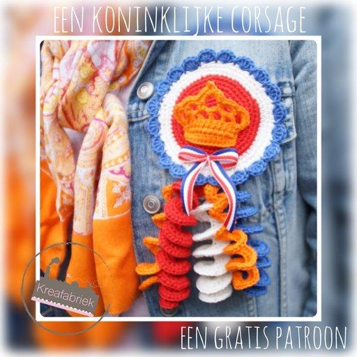 koningsdag corsage haken