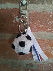 voetbal sleutelhanger haken