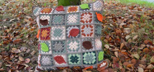 kussen haken in herfstkleuren