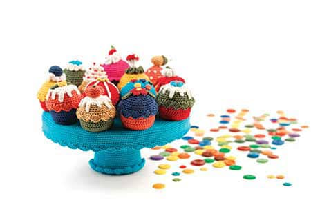 Gehaakte cupcakes