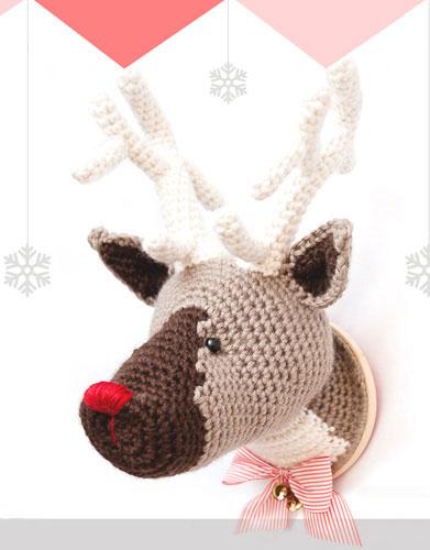 Katia Gehaakte Rudolph the Rednosed Reindeer