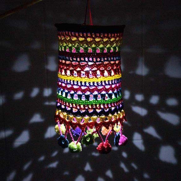 Lampion met LED lamp voor Sint Maarten haken